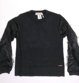 Twinset trui  zwart kant