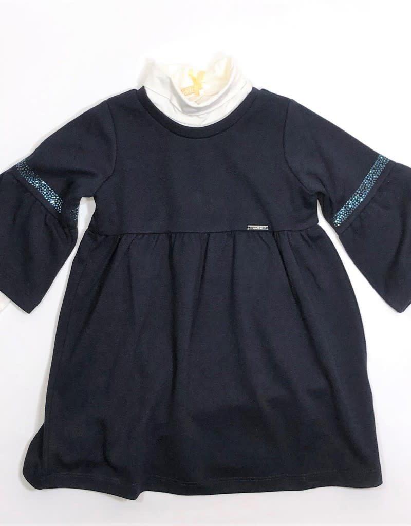 Liu Jo jurk blauw ¾ mouw