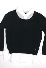 Kocca trui zwart blouse wit