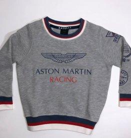 Hackett  sweater grijs met print Aston Martin