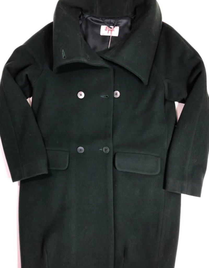 Il Gufo jas lang donker groen