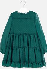 Mayoral jurk groen tule