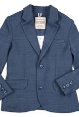 Gymp blazer blauw structuur kostuum Bailey