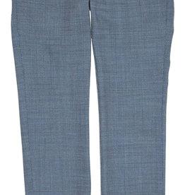 Gymp broek lang chino blauw structuur kostuum Bailey