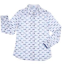 Gymp hemd wit vliegtuig blauw Fokker