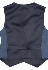 Gymp ondervest gilet kostuum blauw structuur Bailey