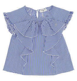 Monnalisa bloes top streep wit blauw