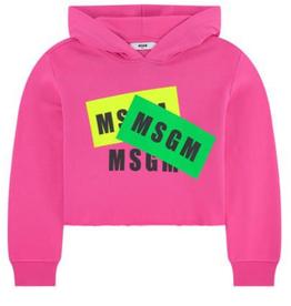 MSGM sweater trui hoodie fuchsia