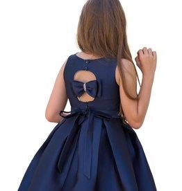 Mimilu jurk donker blauw effen