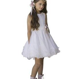 Mimilu jurk voile lagen ecru