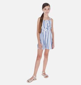 Mayoral jumpsuit kort streep blauw wit