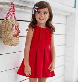 Mayoral jurk ottoman rood