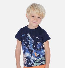 Mayoral T-shirt duiker blauw