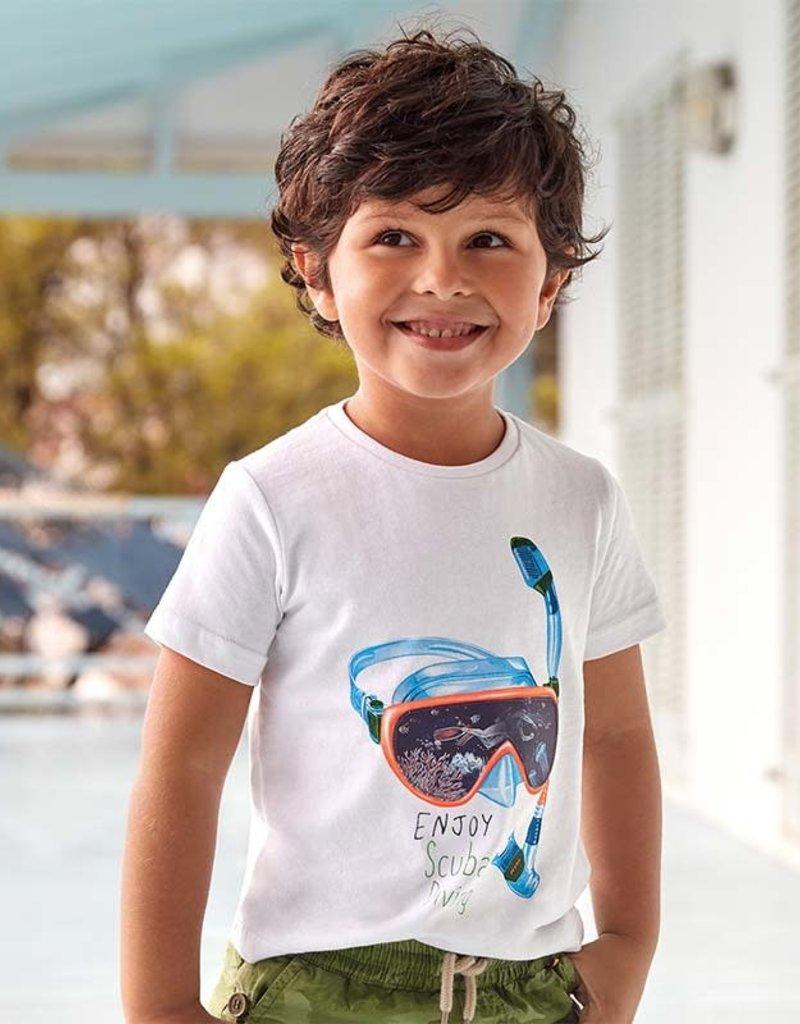 Mayoral T-shirt wit duikbril