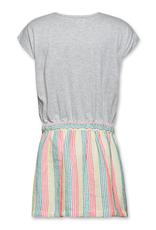 Ao76 jurk grijs en streep kleuren
