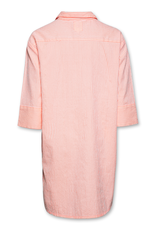 Ao76 jurk streep fluo oranje