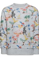 Ao76 sweater grijs dieren eiland