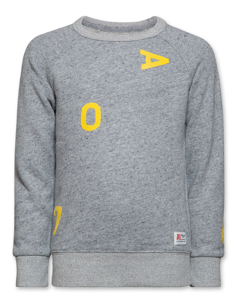 Ao76 sweater grijs letters Ao