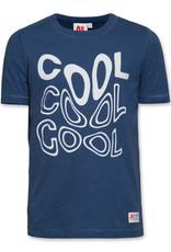 Ao76 T-shirt cool blauw washed
