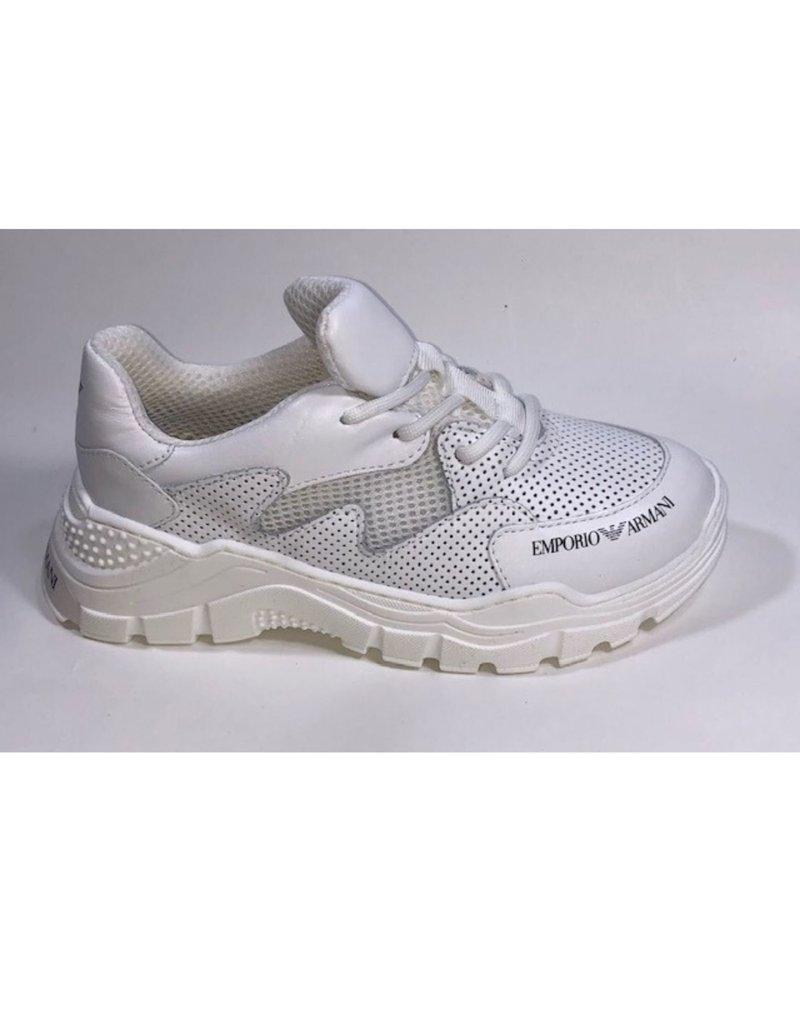 Armani schoenen wit hip sportief