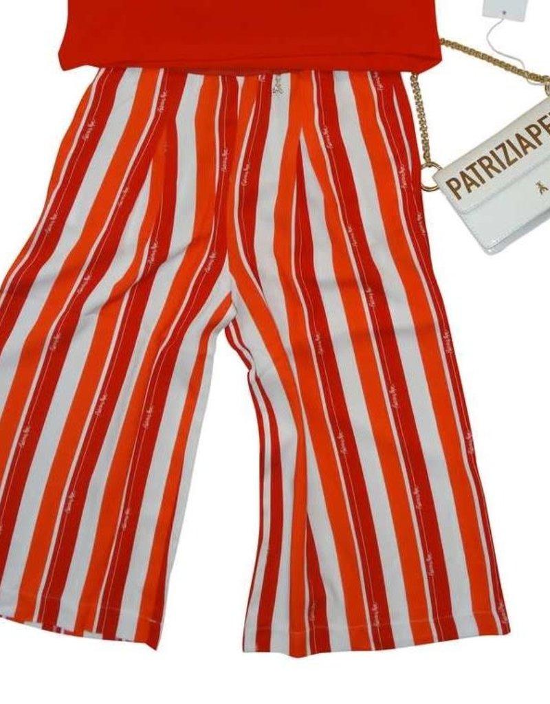 Patrizia Pepe broek streep rood wit