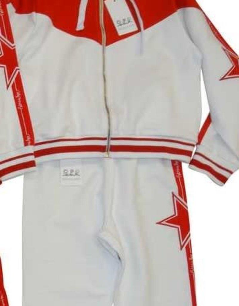 Patrizia Pepe broek sweat wit rood