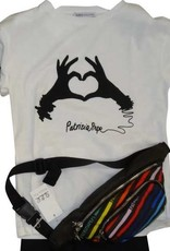 Patrizia Pepe T-shirt wit handen zwart