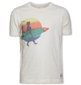 Ao76 T-shirt ecru surfer