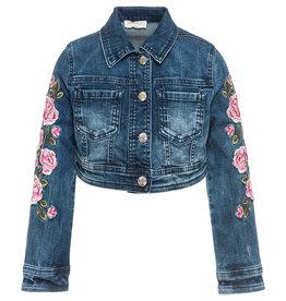 Monnalisa Blazer jeans bloem
