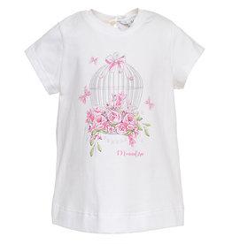 Monnalisa T shirt vogelkooi