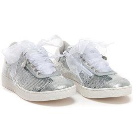 Monnalisa Sneaker pailletten zilver