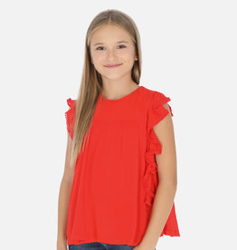 Mayoral blouse rood ruffles