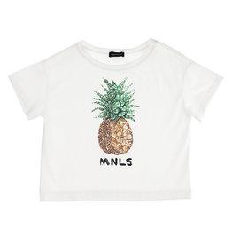 Monnalisa T-shirt wit ananas
