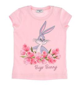Monnalisa T-hsirt roze konijn bugs bunny bloemen
