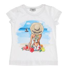 Monnalisa T-shirt wit zee cocktail