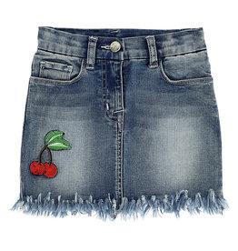 Monnalisa rok jeans kers hart rood