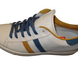 Red Limit/Hoops sneaker wit oker blauw