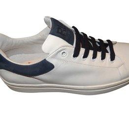 Red Limit/Hoops sneaker wit blauwe bies