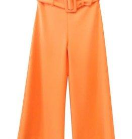 Elsy broek effen oranje