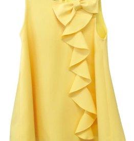 Elsy jurk geel effen strik