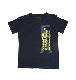 Armani T-shirt blauw + geel EA