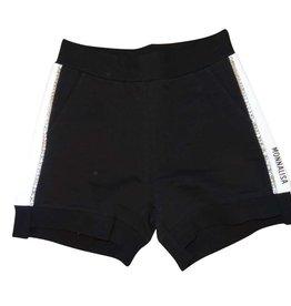 Monnalisa short zwart streep wit glitter