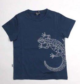 Il Gufo T-shirt blauw salamander