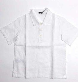 Il Gufo hemd korte mouw wit linnen