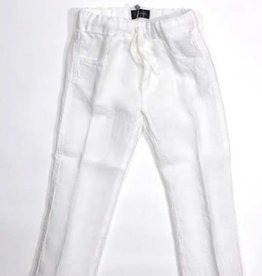 Il Gufo broek lang linnen wit