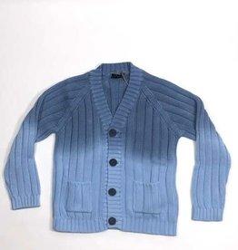 Il Gufo gilet blauw knopen bleached