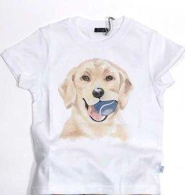 Il Gufo T-shirt wit hond tennisbal