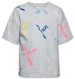Ao76 T-shirt grijs fun fluo
