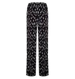 Jacky luxury broek zwart print bloemetjes