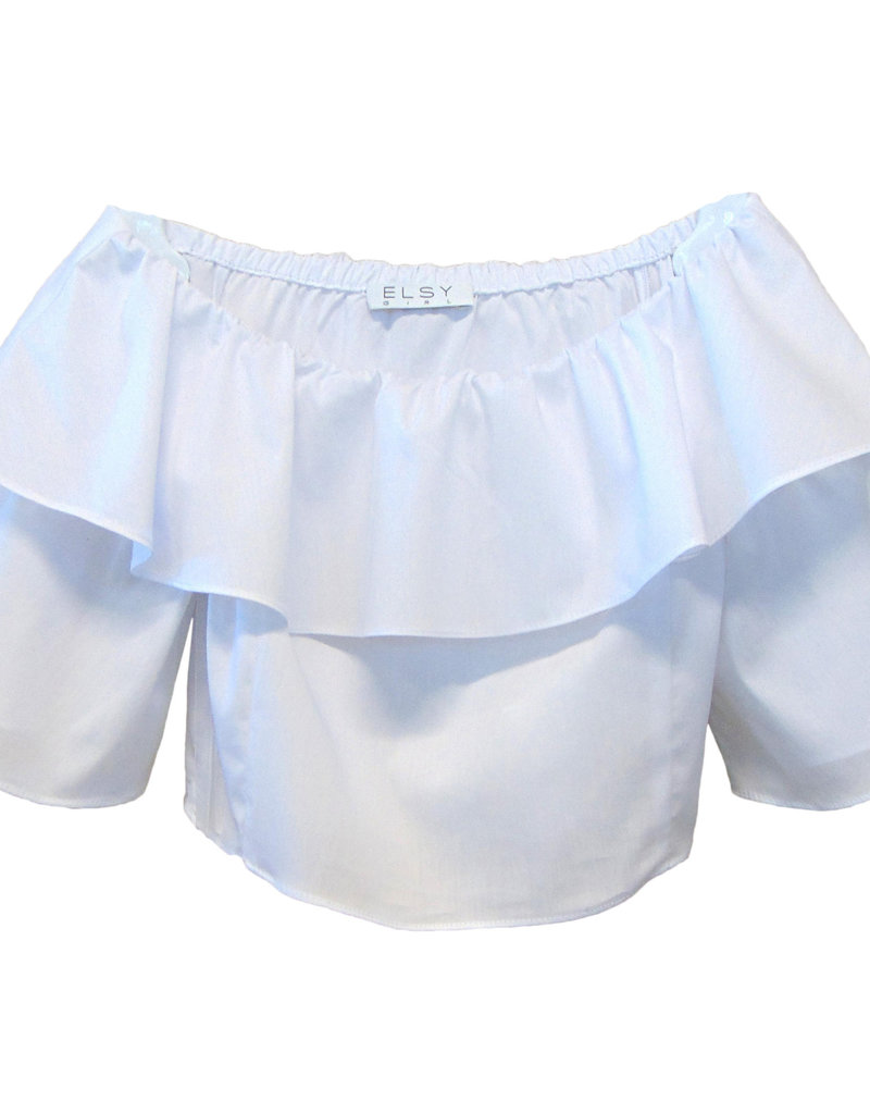Elsy blouse top wit wijde mouw